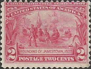 # 329 Mint No Gum Carmine Founding Of Jamestown