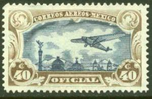 MEXICO CO14, 40¢ OFFICIAL AIR MAIL, MINT, NH. F-VF.