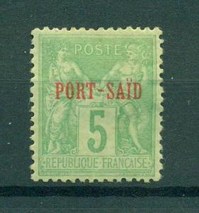 French Offices in Egypt Port Said sc# 5a mhr cat val $60.00