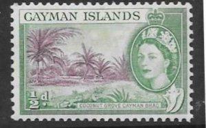 CAYMAN ISLANDS SG149 1954  ½ PURPLE & BLUISH GREEN MNH