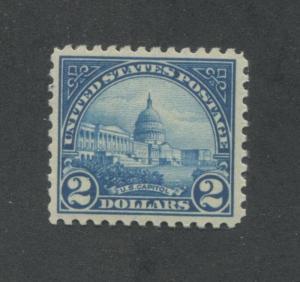 1923 US $2 Postage Stamp #572 Mint Never Hinged Very Fine Original Gum