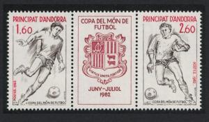 Andorra Fr. World Cup Football Championship Spain 2v SG#F321-F322