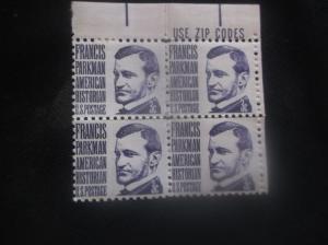 U.S. 3 Cent Francis Parkman American Historian - Block of (4)