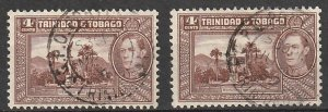 #53 Trinidad & Tobago Used lot of 2 #190902-2