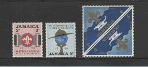 JAMAICA #233-235  1964 6TH INTER-AMERICAN SCOUT CONFERENCE     MINT  VF NH  O.G