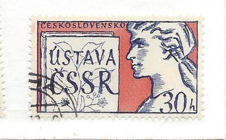 Czechoslovakia, 1003, Socialist Constitution CTO Single, NH