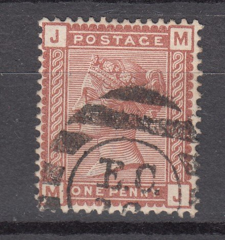 J27448 1880-1 great britain used #79 queen