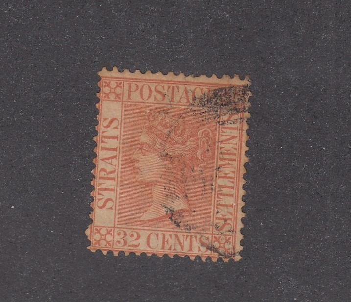 STRAITS SETTLEMENTS # 17-QUEEN VICTORIAN 12cts CAT VALUE $75