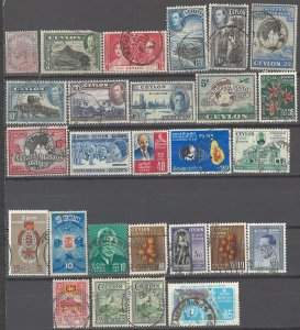 COLLECTION LOT # 2359 CEYLON 27 STAMPS 1886