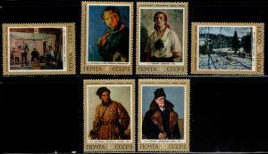 Russia Scott 4036-4041 MNH** 1972 Art set