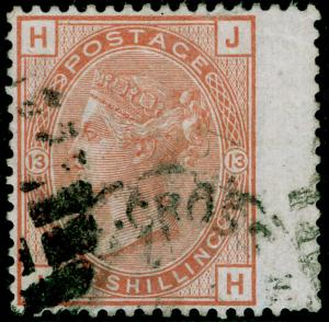 SG151, 1s orange-brown plate 13, FINE USED. Cat £700. JH
