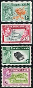 Pitcairn Islands SG1 SG3 SG5a SG6a Wmk Mult Script CA Stated Fluorescent Used