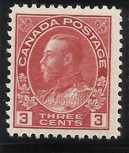 Canada 109 3c  MLH F/VF Centering