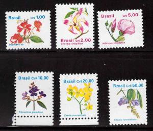 Brazil Scott  2259-2264  MNH** flower stamps