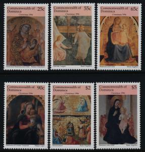 Dominica 1901-6 MNH Christmas, Art, paintings