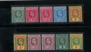Cayman Islands 21-28,22var-26a Mint 1907-1909 SCV$ 225.00 Set