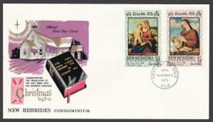 NEW HEBRIDES 1970 Christmas commem FDC.....................................55219