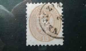 Austria-Lombardy-Venetia #24 used thin e1911.5368