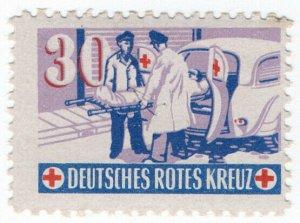 (I.B-CKK) Germany Cinderella : Red Cross Fund 30pf (ambulance)