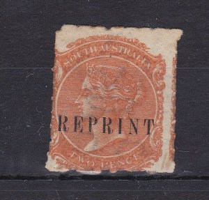 SA11) South Australia 1884 watermark Crown over SA 2d Orange-red rouletted