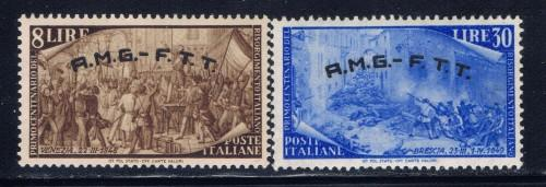 Italy-Trieste 22 and 27 Hinged 1948 issues