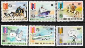 Burkina Faso #332-334,C189-C191 UPU (U) CV $3.80