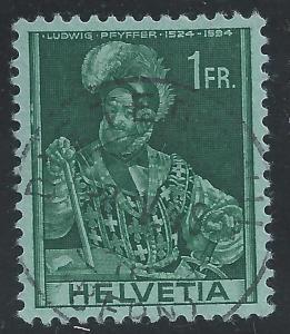Switzerland #275 1fr Ludwig Pfyffer