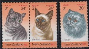 New Zealand B115-B117 MNH (1983)