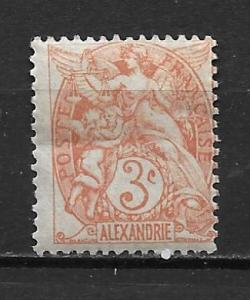 France Offices in Egypt - Alexandria 18 3c single MH