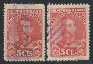 Canada, Newfoundland (Revenue) van Dam NFR16-NFR16a, used