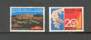 Greece 1972 Scot 1051-52 mnh fvf scv $1.20 Less 50%=$0.60BIN