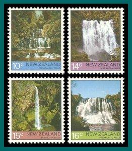 New Zealand 1976 Waterfalls, MNH  #604-607,SG1121-SG1124