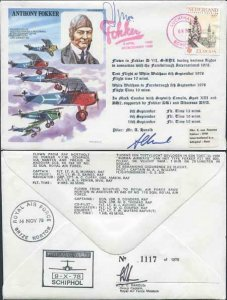 HASP4c Anthony Fokker Signed by Mr A. Harold and Capt. A.P. Moll