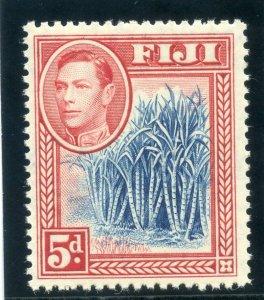 Fiji 1938 KGVI 5d blue & scarlet superb MNH. SG 258. Sc 123.