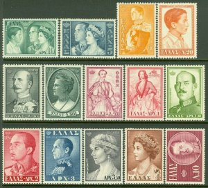 EDW1949SELL : GREECE 1957 Sc #604-17 Complete set. Very Fine, Mint LH. Cat $121.