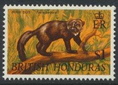 British Honduras SG 265 SC # 223 MLH  Wildlife  Bush Dog  1968  see scans