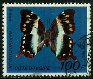 Ivory Coast #446D Used Stamp - Butterfly (d)