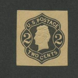 1863 United States Stamped Envelope Stationary #U46 Mint Cut Square