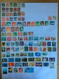 Switzerland 100+ stamps - Lot K