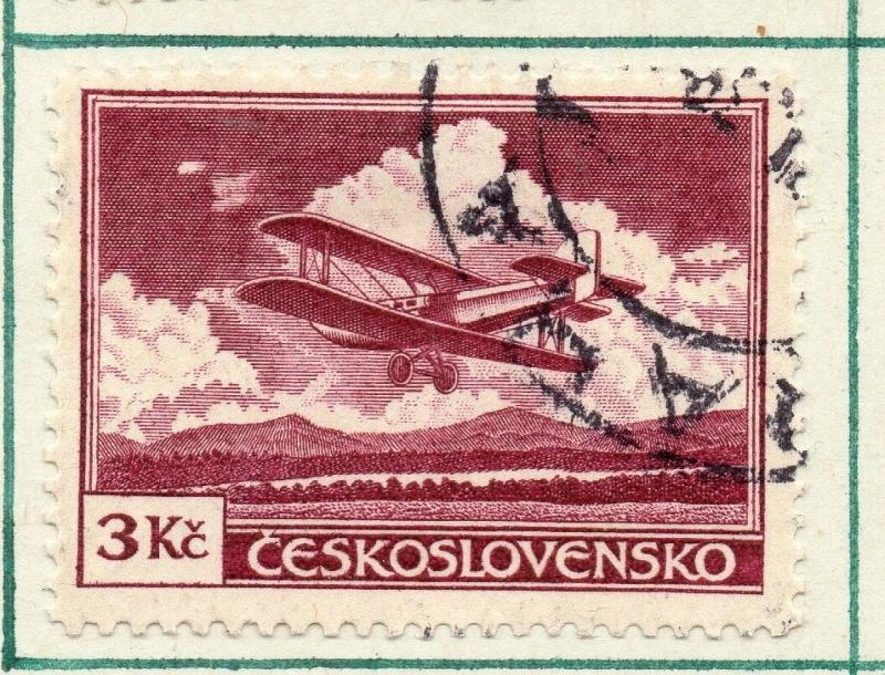 Czechoslovakia 1930 Air Early Issue Fine Used 3K. 230297