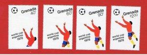 Grenada #878-881  VF used  Soccer   Free S/H