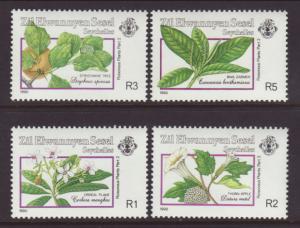 Seychelles Zil Elwannyen Sesel 173-176 Plants MNH VF