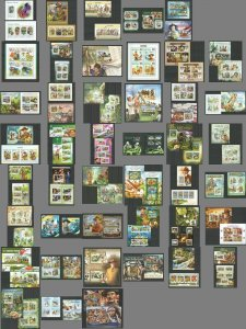 KS 2010-2016 SCOUTING BOY SCOUTS BADEN-POWELL FLORA FAUNA 43BL+41KB MNH STAMPS