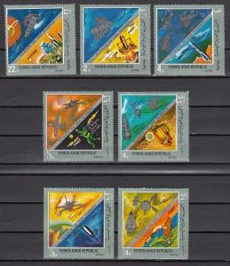 Yemen Arab Rep., Mi cat. 921-927 A. Flight to the Planets issue.