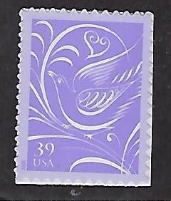 Catalog # 3998 Single Stamp Wedding Invitation .39 Cent