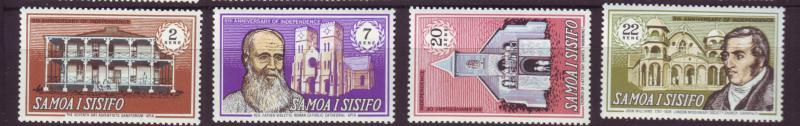 J19627 Jlstamps 1970 samoa set mnh #321-4 buildings