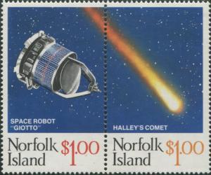 Norfolk Island 1986 SG383-384 Halley's Comet set MNH