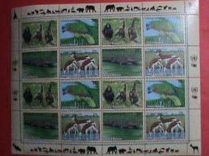 UNITED NATION STAMP: 1994 SC#642a ENDANGER ANIMALS FULL SHEET MNH VERY RARE