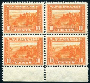 HERRICKSTAMP UNITED STATES Sc.# 400A 1913 Block of Four Mint NH