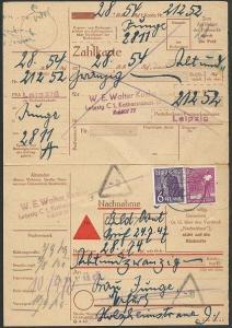 GERMANY 1947 Parcel card ex LEIPZIG........................................49092